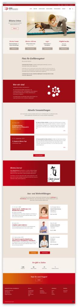Webdesign Wordpress SEO-friendly – Gesellschaft für Shiatsu in Deutschland